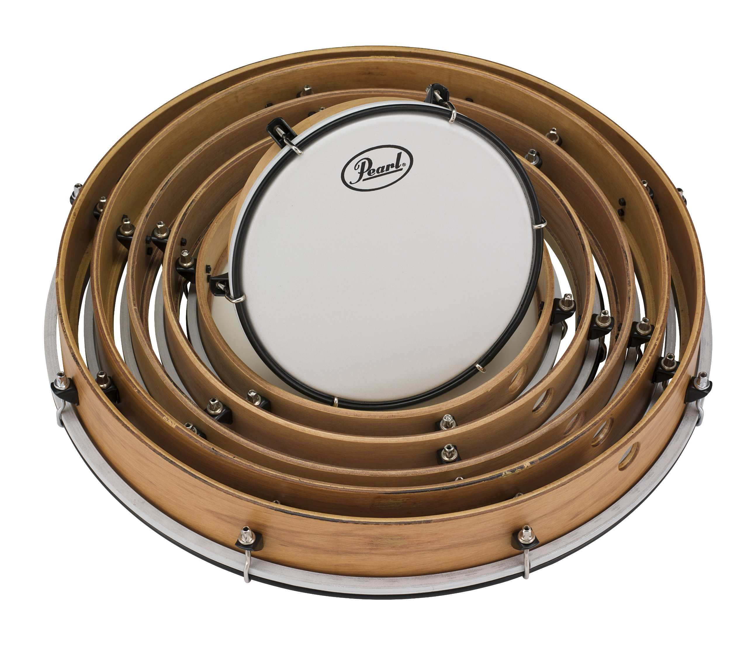 Pearl PFR0818C Frame Drums Set with Lugs and Coated Heads by Pearl