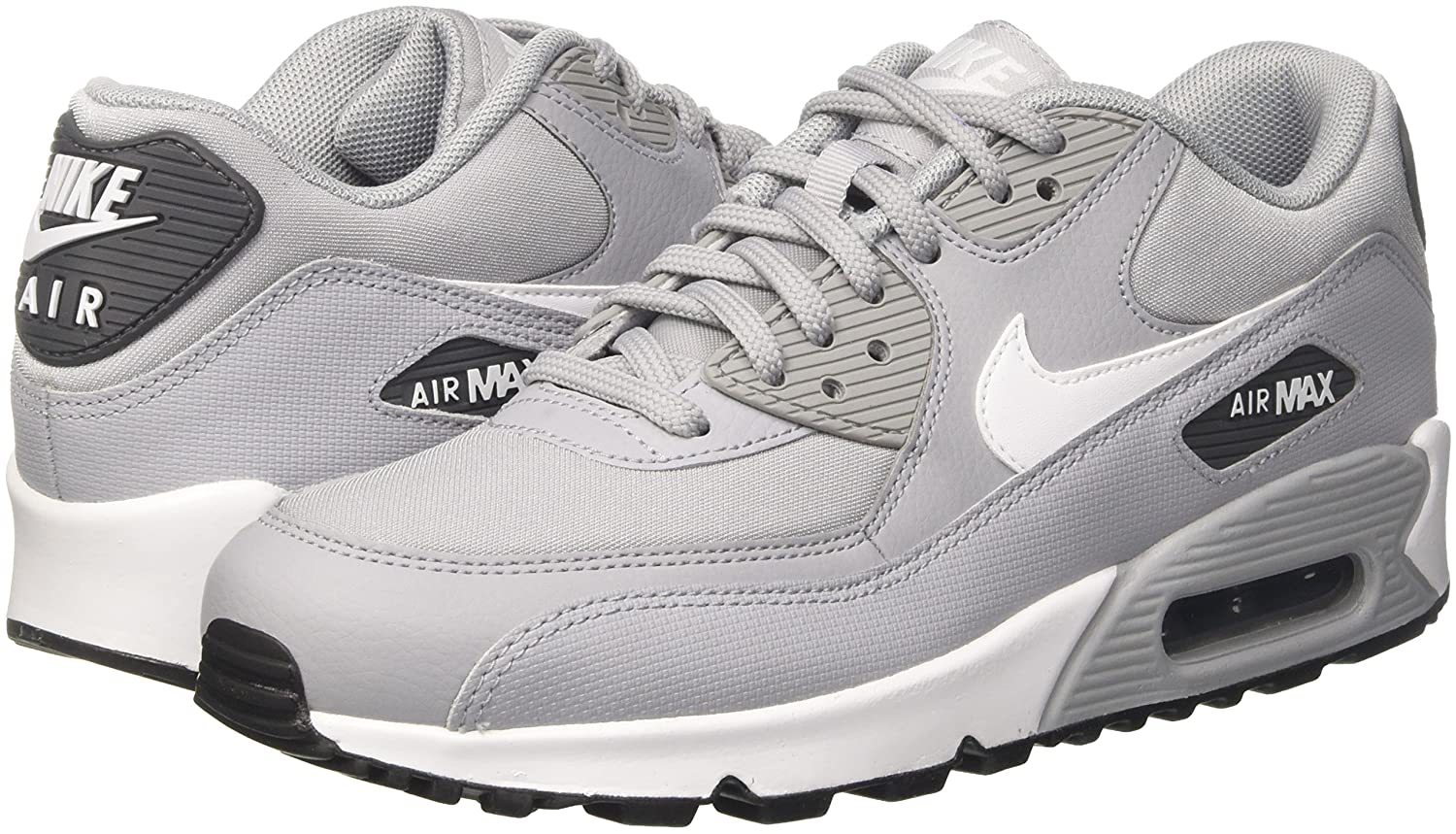 NIKE Women's Air Max 90 Running Shoe B078SGQGHQ 8.5 M US|Wolf Grey/White-dark Grey