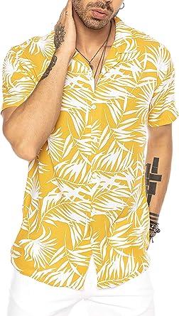 Camisa Hawaiana Moderna de Manga Corta para Hombres: Amazon.es: Ropa y accesorios