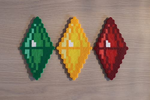 Plumbob Pixel Art Bead Sprites from the Sims Video Game Series