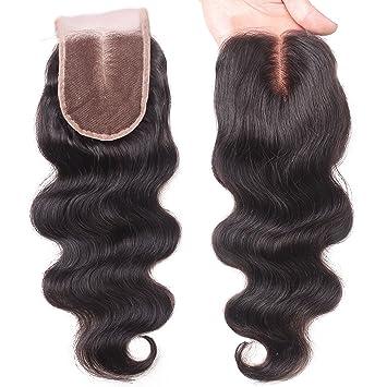 EVA HAIR Brazilian Body Wave Top Closure Unprocessed Human Hair Lace  Closure Bleached Knots