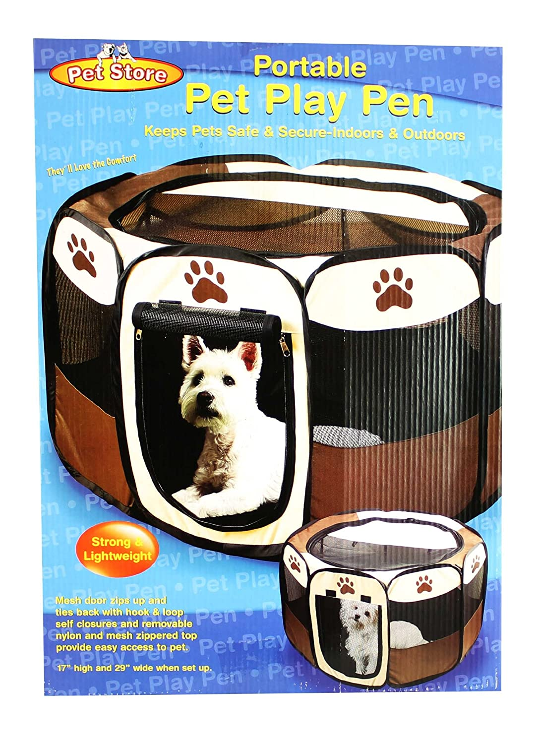 Nice Amazon.com : Portable Doggie Play Pen, Small Size By JSNY : Pet Playpens :  Pet Supplies