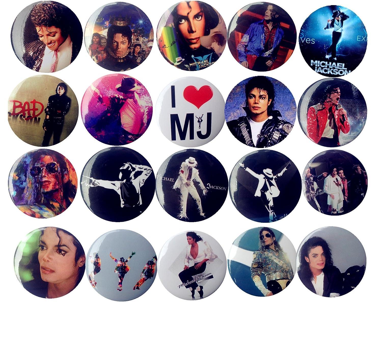 The Bigger Vivider 1 .75 inch Badge / Button / Pin / Pinback/ Button Set, (Michael Jackson) Lez a Lez 4337004737