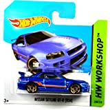 Hot Wheels Nissan Skyline GT-R (R34) dunkelblau-metallic 1:64
