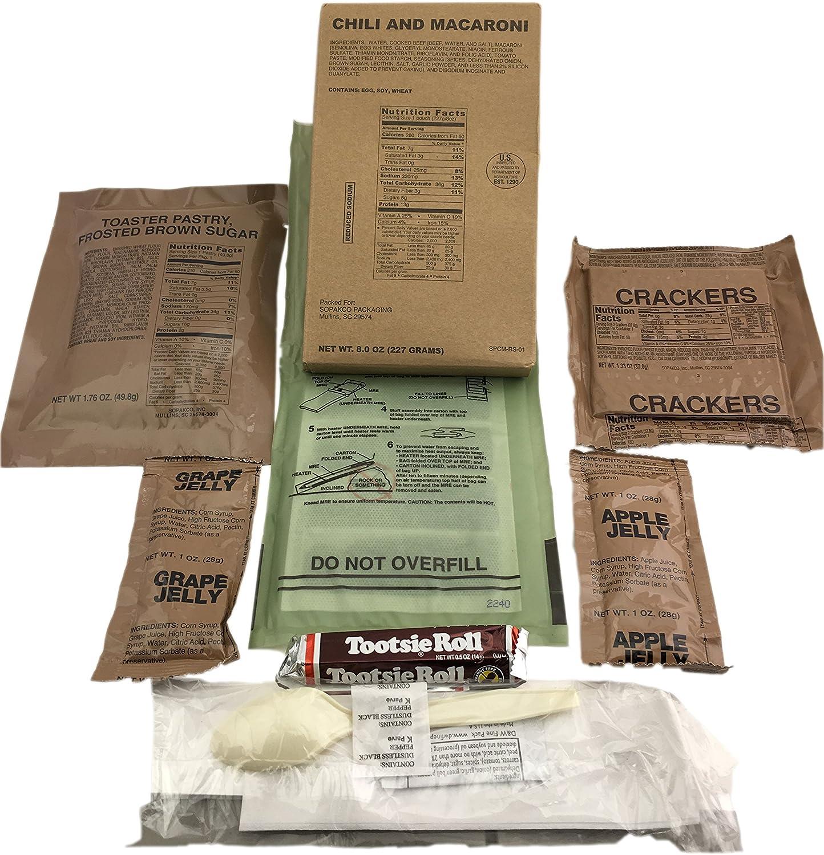 SOPAKCO Sure-Pak MRE - Paquete de 10 comidas de emergencia de sodio reducidas - Listo para comer variedad sellada de fábrica: Amazon.es: Bricolaje y herramientas