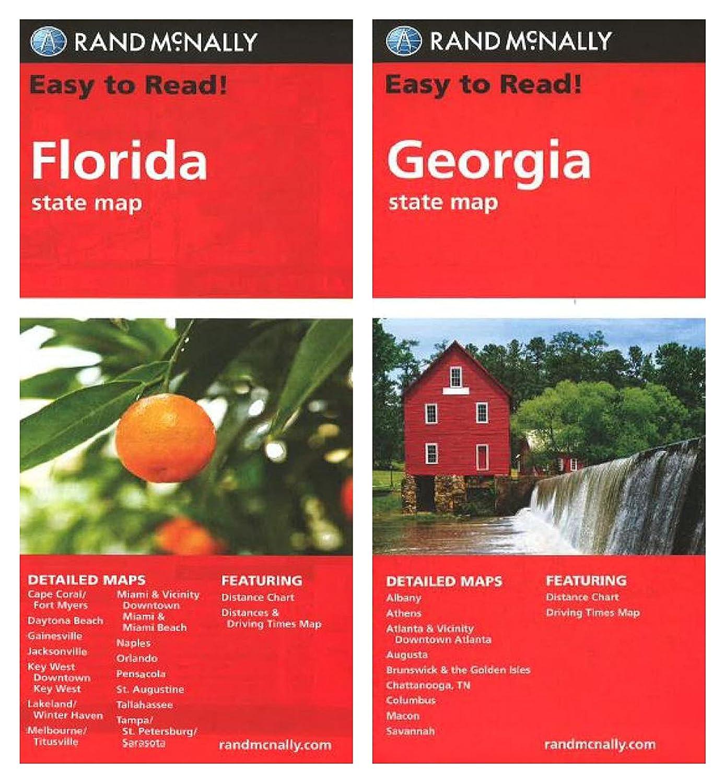 Amazoncom Rand Mcnally State Maps Florida And Georgia 2 Maps