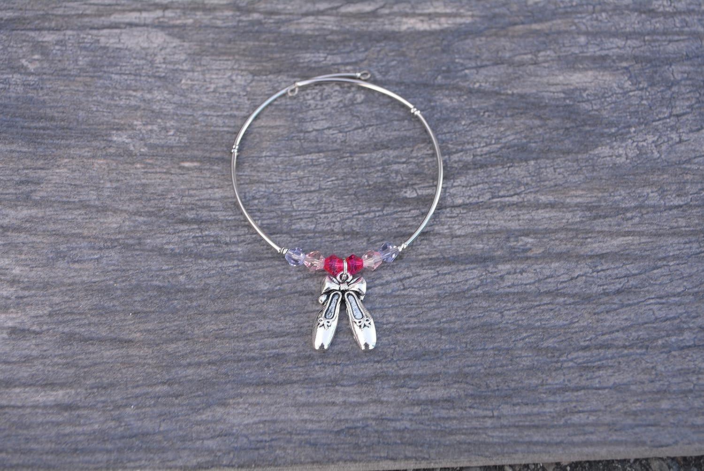 Girls Dance Jewelry Perfect Gift For Dance Recitals Ballet Shoes Charm Bracelet Dance Bracelet