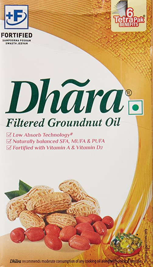 Dhara Groundnut Oil, 1L