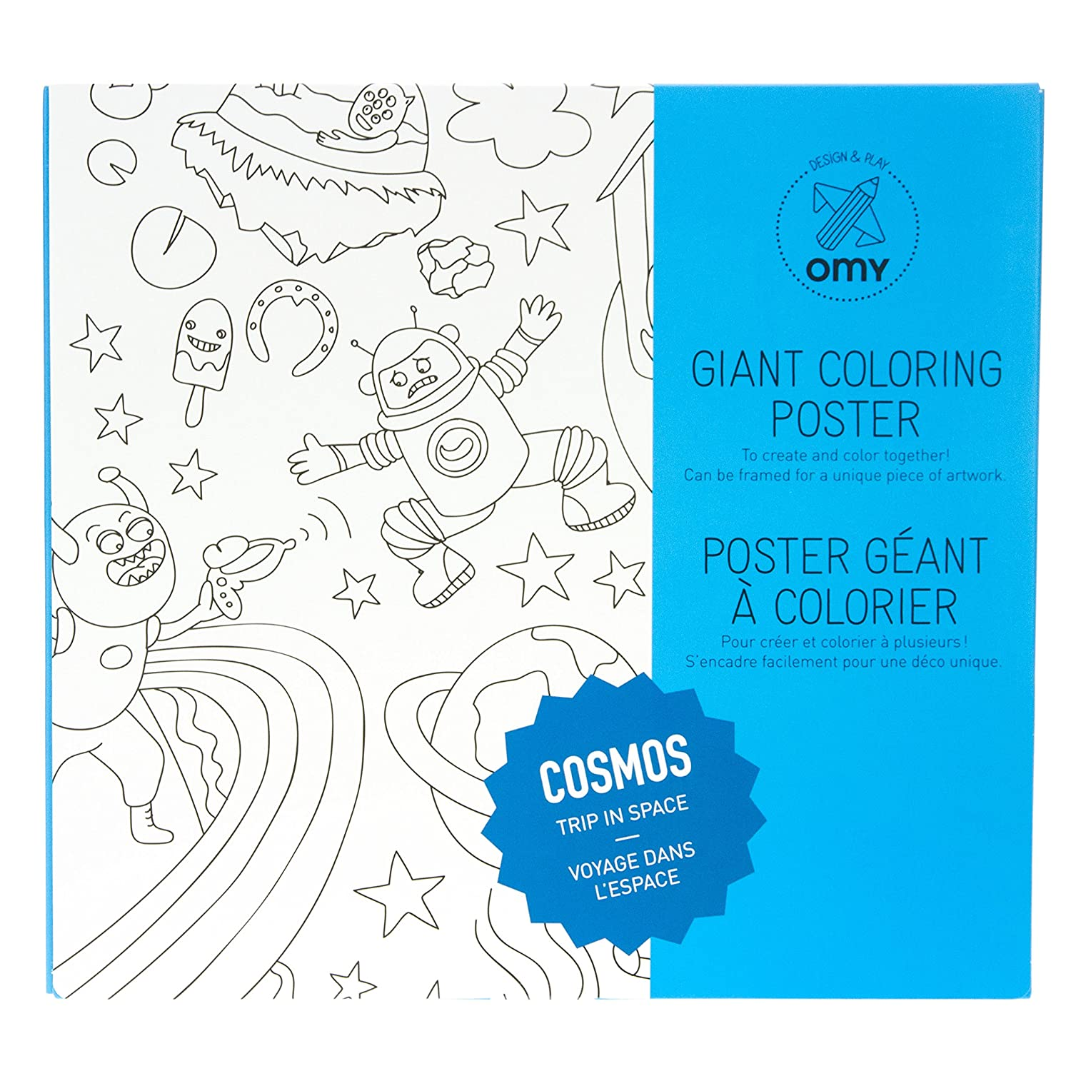 OMY Design and Play Giant Colouring Poster Cosmos: Amazon.co.uk ...