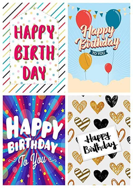 12 Contemporary Design Birthday Cards Envelopes By Greetingles Made In UK Amazoncouk Kitchen Home