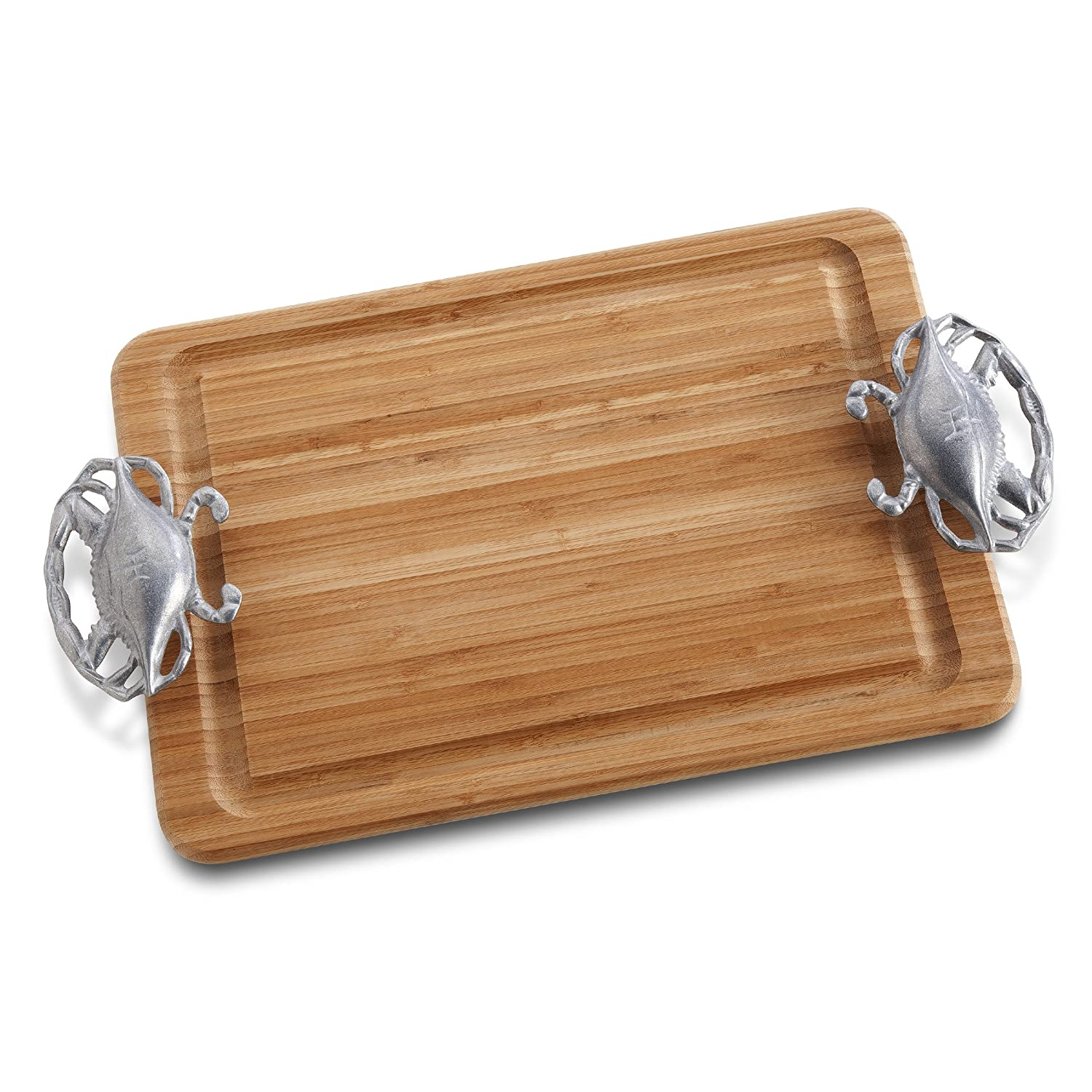 Wilton Armetale Large Carving Board with Crab Handles