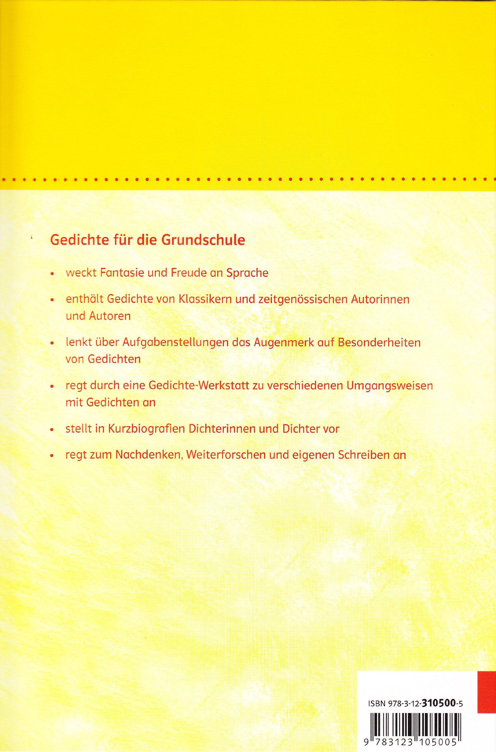 Gedichte Fur Die Grundschule 1 4 Schuljahr 9783123105005