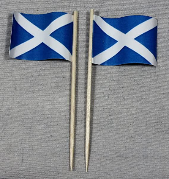 Party-Picker Flagge Grossbritannien Papierf/ähnchen in Spitzenqualit/ät 50 St/ück Beutel