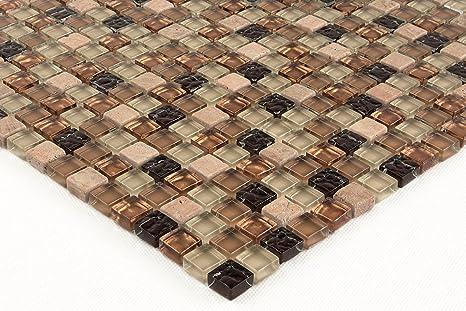 Unico texture vetro mosaico con pietra naturale ideale per