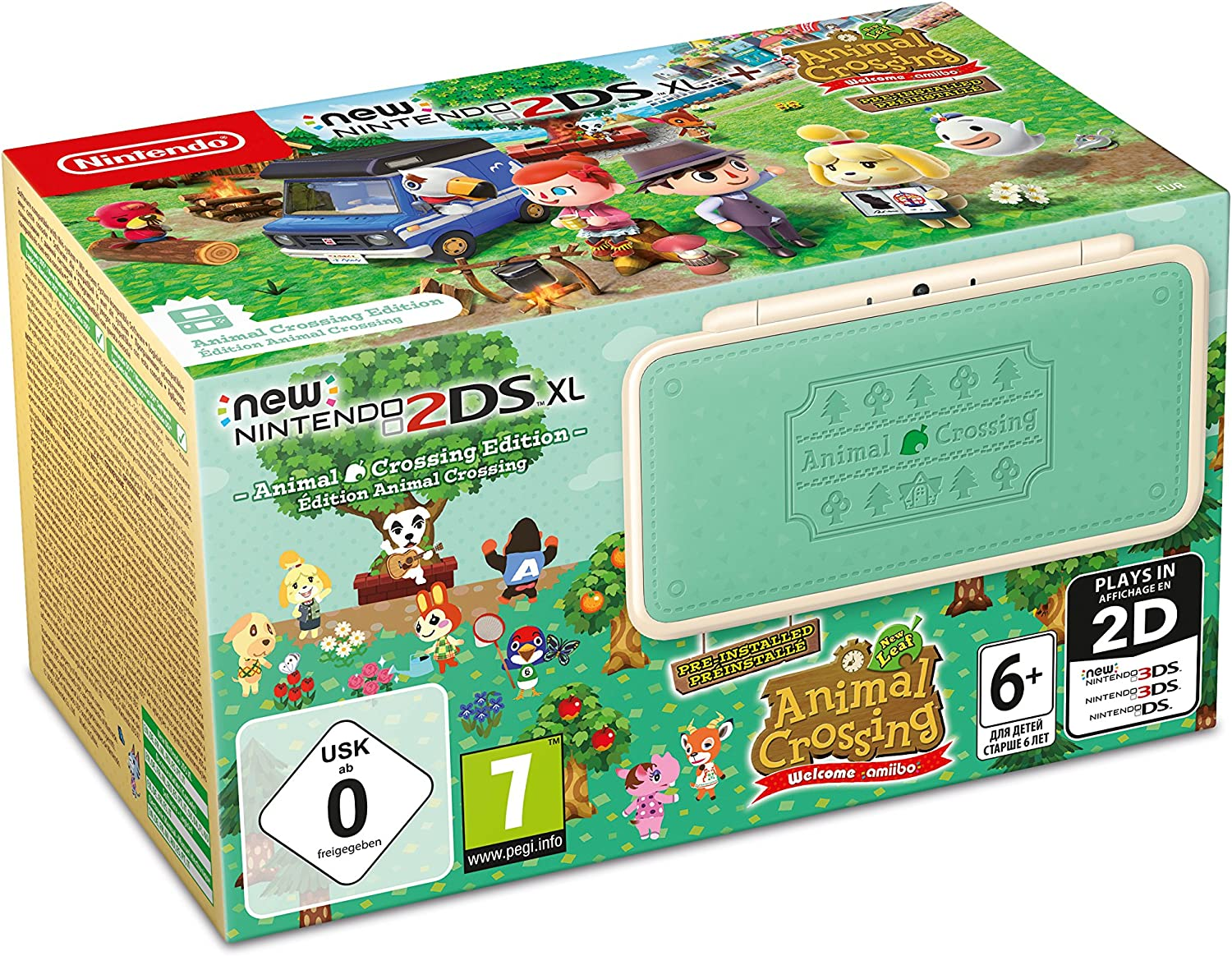 New Nintendo 2DS XL Animal Crossing Edition + Animal Crossing: New ...