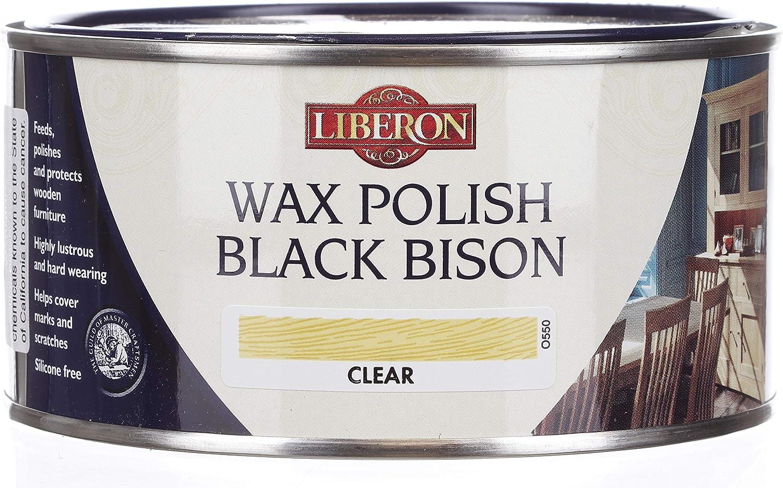 Liberon Black Bison Paste Wax, 500 ml, Clear