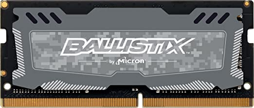 Ballistix Sport LT 8GB Single DDR4 2666 MT/s (PC4-21300) SR x8 SODIMM 260-Pin - BLS8G4S26BFSDK (Gray) Internal Memory Card Readers at amazon