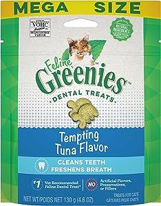 Greenies Feline Natural Dental Care Cat Treats, Tuna Flavor, All Bag Sizes