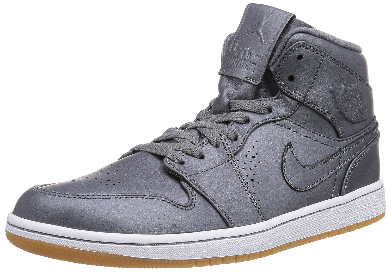 magasin d'usine c27dc 65875 NIKE Air Jordan 1 MID Nouveau Grey/White 629151-007