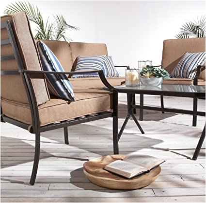 amazon com strathwood brentwood 4 piece all weather furniture set