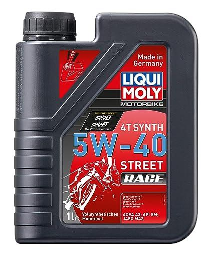 Liqui Moly 1685 - Aceite de motor, 4T, Synth, 5W-40, Street Race ...