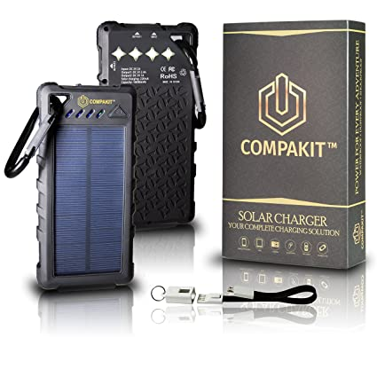 Amazon.com: Teléfono Cargador Solar 16000 mAh compakit: R&M Team