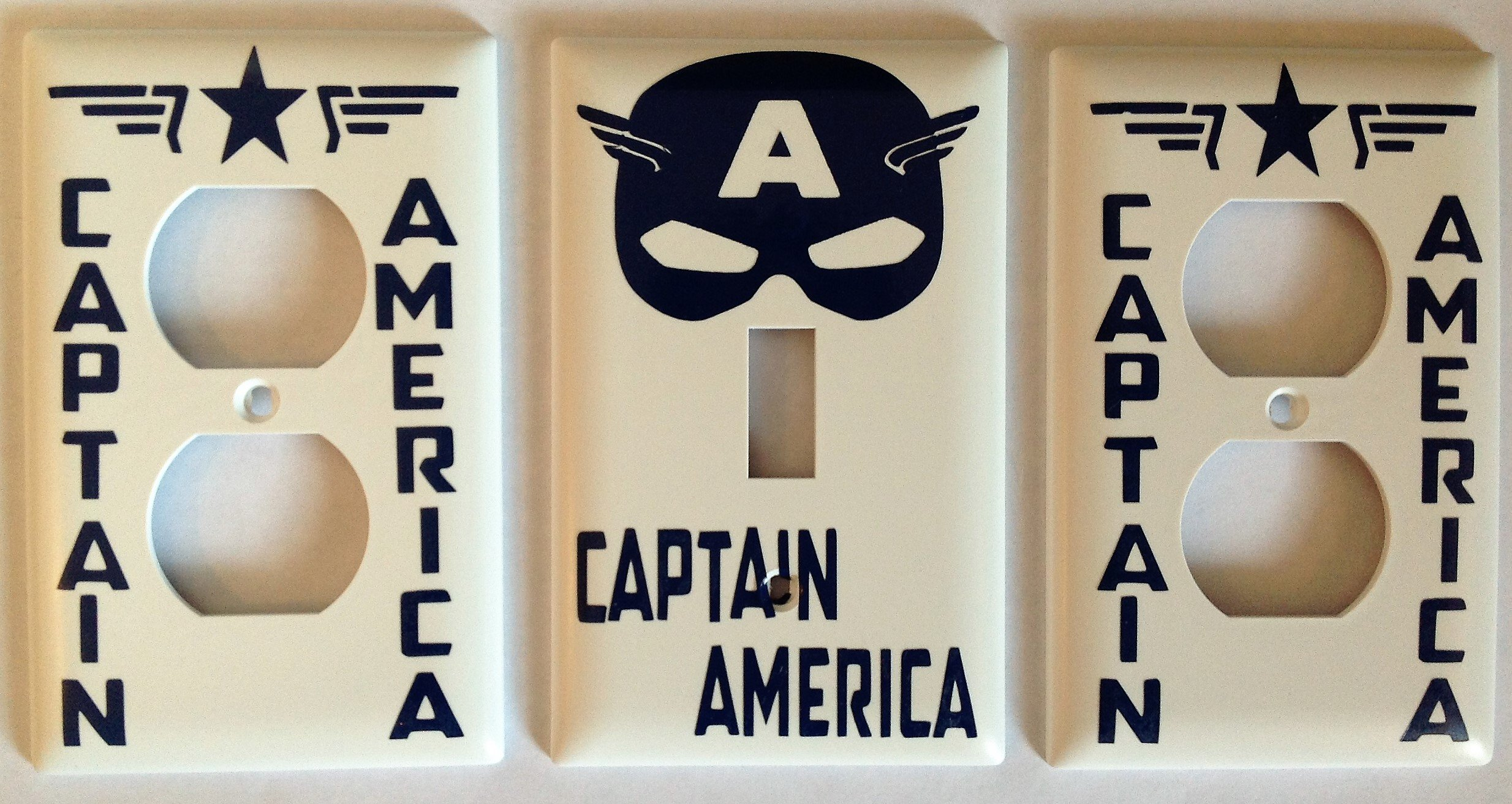 Captain America Switch plate /Outlet Cover