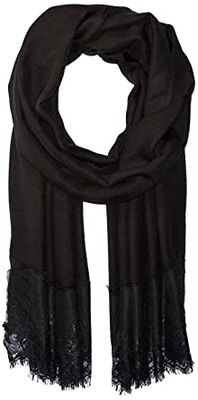 0159a41fb73aa Amazon.com: La Fiorentina Women's Lace Trim Evening Wrap, Black, One ...