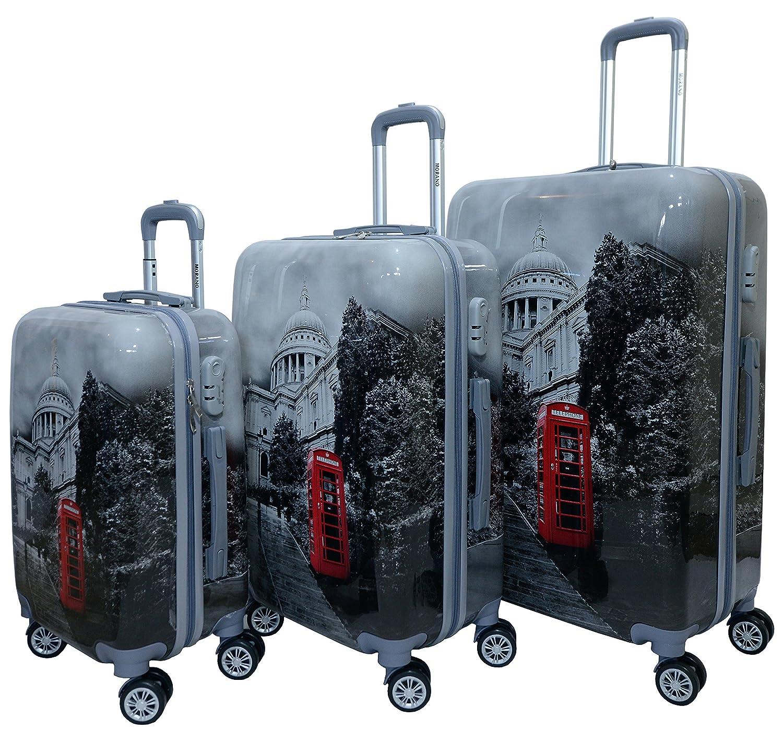 295d7ed35dea Morano 3-Piece Luggage Travel Set Bag PC Trolley Suitcase (28
