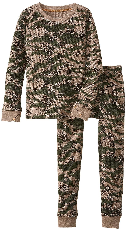 Cuddl Duds Big Boys' Cozy Thermal Long Underwear Set Boot Topo Camo Small Girls 2-6x Cuddl Duds
