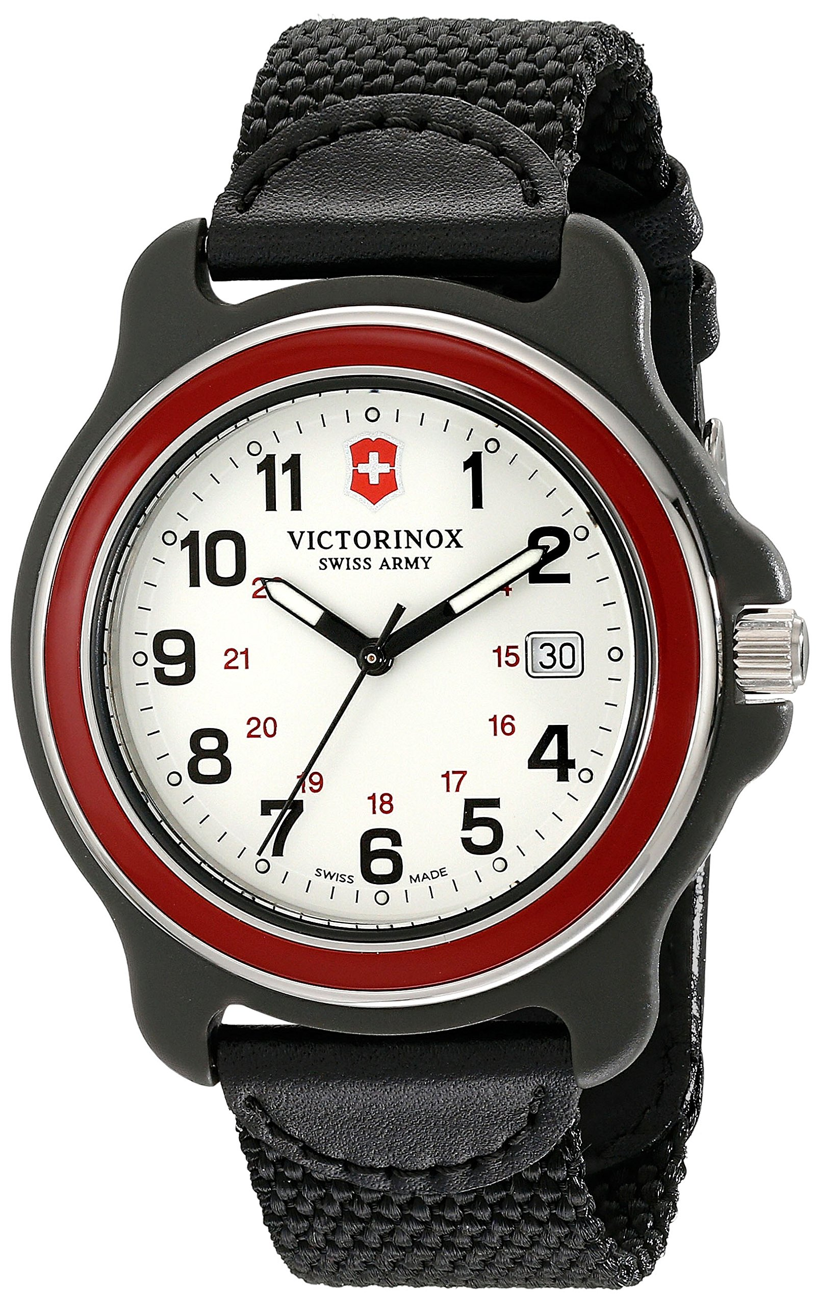 Victorinox Men's 249085 Original XL Swiss Quartz Watch With Black Nylon Band by Victorinox