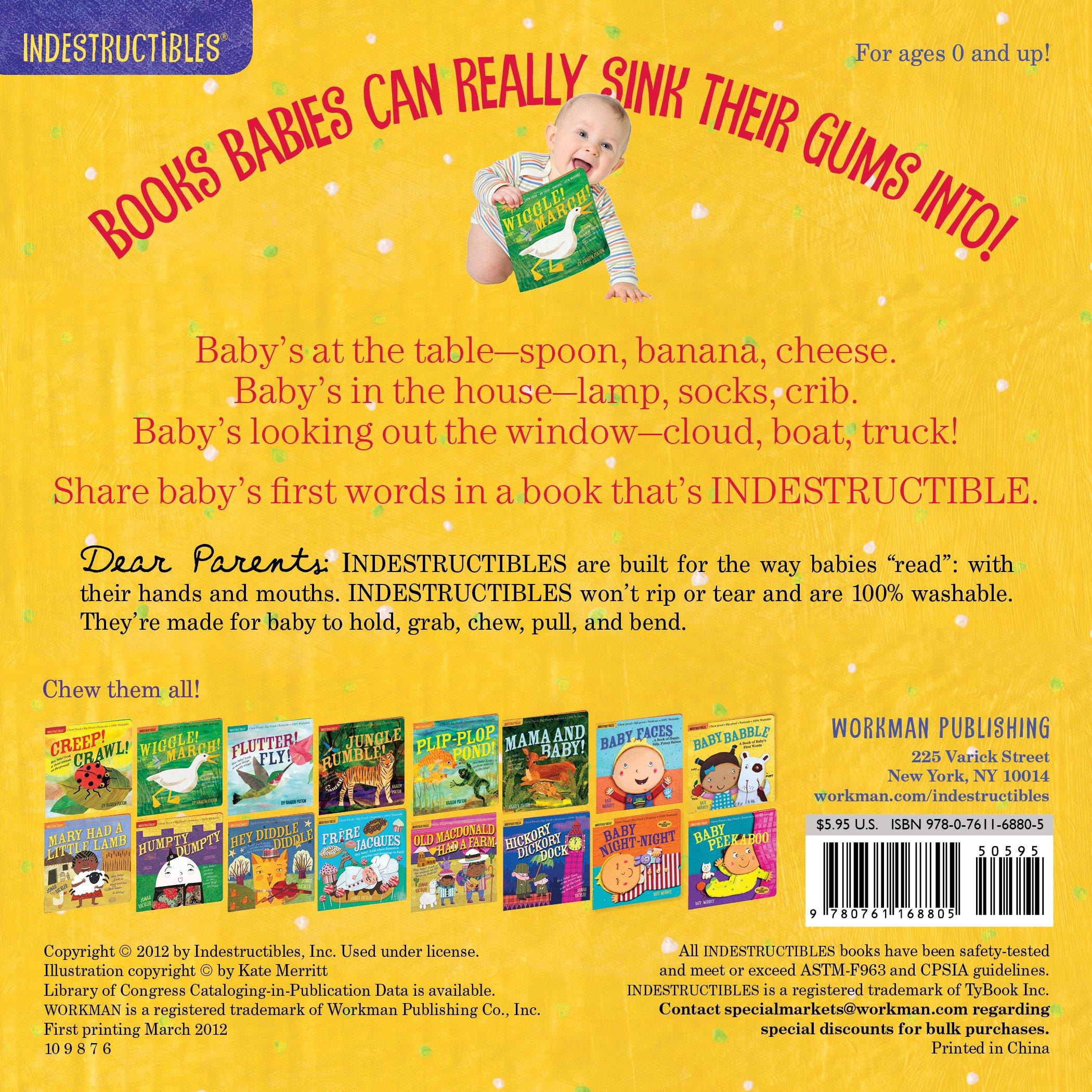 Amazon: Indestructibles: Baby Babble (9780761168805): Amy Pixton, Kate  Merritt: Books