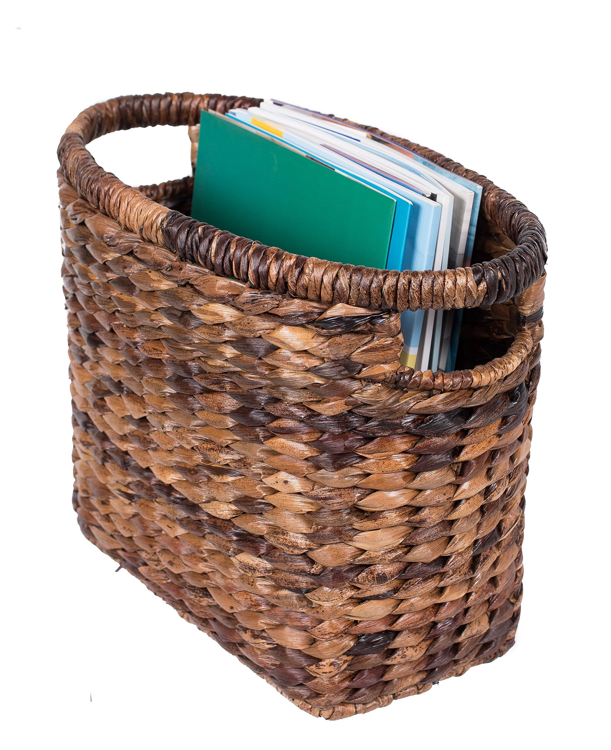 BirdRock Home Seagrass Magazine Basket