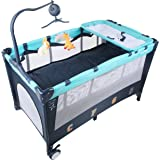 Baybee Little Hut Play Pen - Premium Quality Portable Travel Cot Baby Bed cum Cot