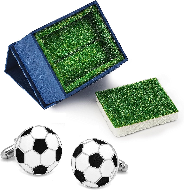 Gemelos para Hombre Fútbol Pelota Réplica Balón de Fútbol + Caja ...