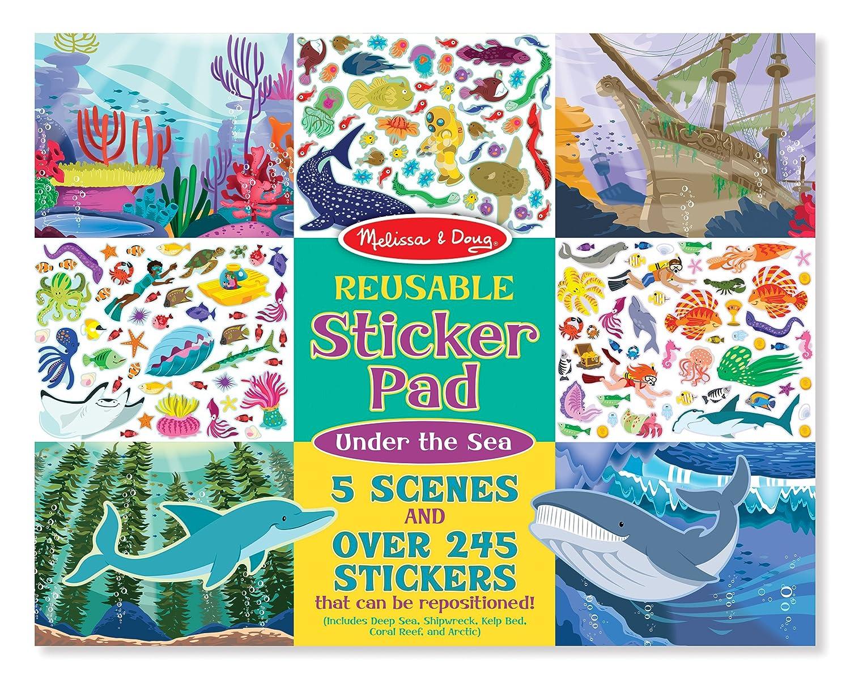 Melissa Doug Reusable Sticker Activity Pad Under The Sea Toy