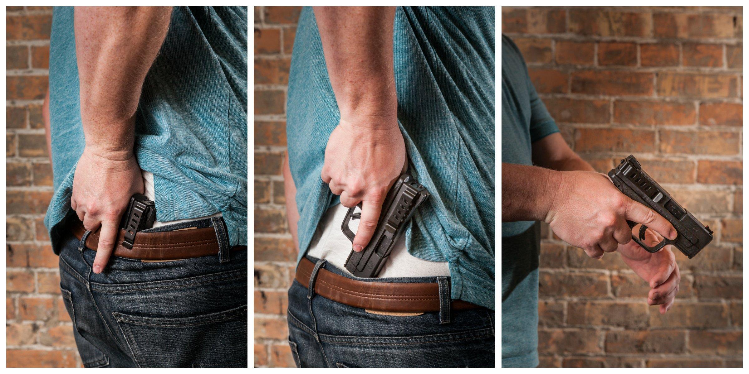 Belt Clip, Fits Taurus PT111 G2 and 709 Slim, Ambidextrous, Black