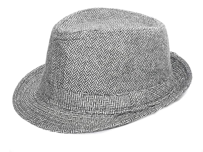 Alvaro castagnino White Black Men Fedora Hats  Amazon.in  Clothing ... a027a3a11d75
