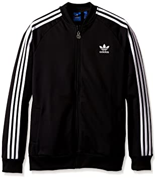 detailed look e6643 ed44a adidas Originals Boys  Superstar Track Top, Black, X-Small