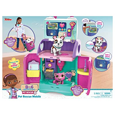 Doc McStuffins 92446 Baby All in One Nursery Pet Rescue Mobile, Multicolor: Toys & Games [5Bkhe0300985]