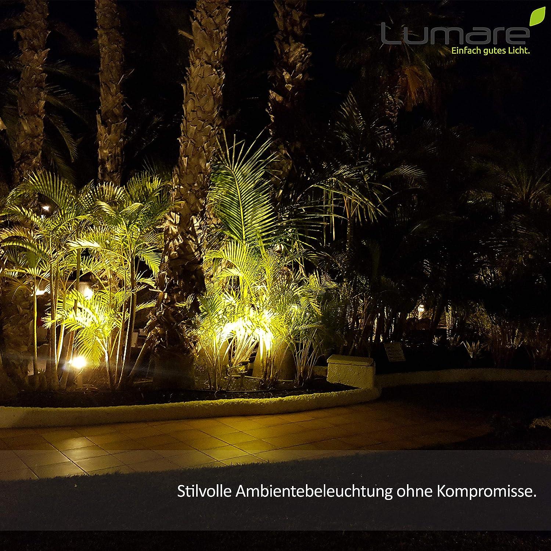Lumare R7s LED 10W 118mm 230V Leuchtmittel Halogen Flutlicht Fassung ersetzt 75W Baustrahler Lampe Ersatz Halogenstab 3500K warmwei/ß bis neutralwei/ß