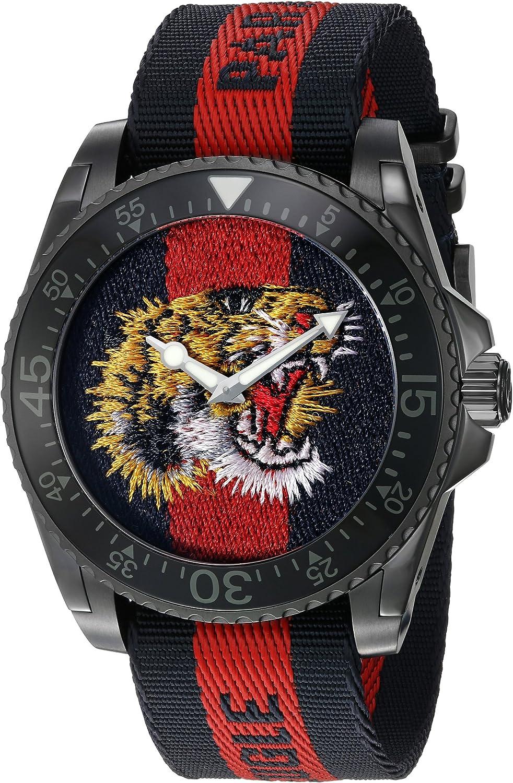 Gucci Reloj Análogo clásico para Hombre de Cuarzo con Correa en Nailon YA136215