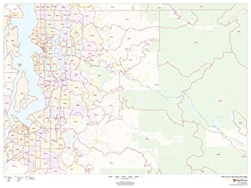 Amazon Com King County Washington Zip Codes 48 X 36 Laminated