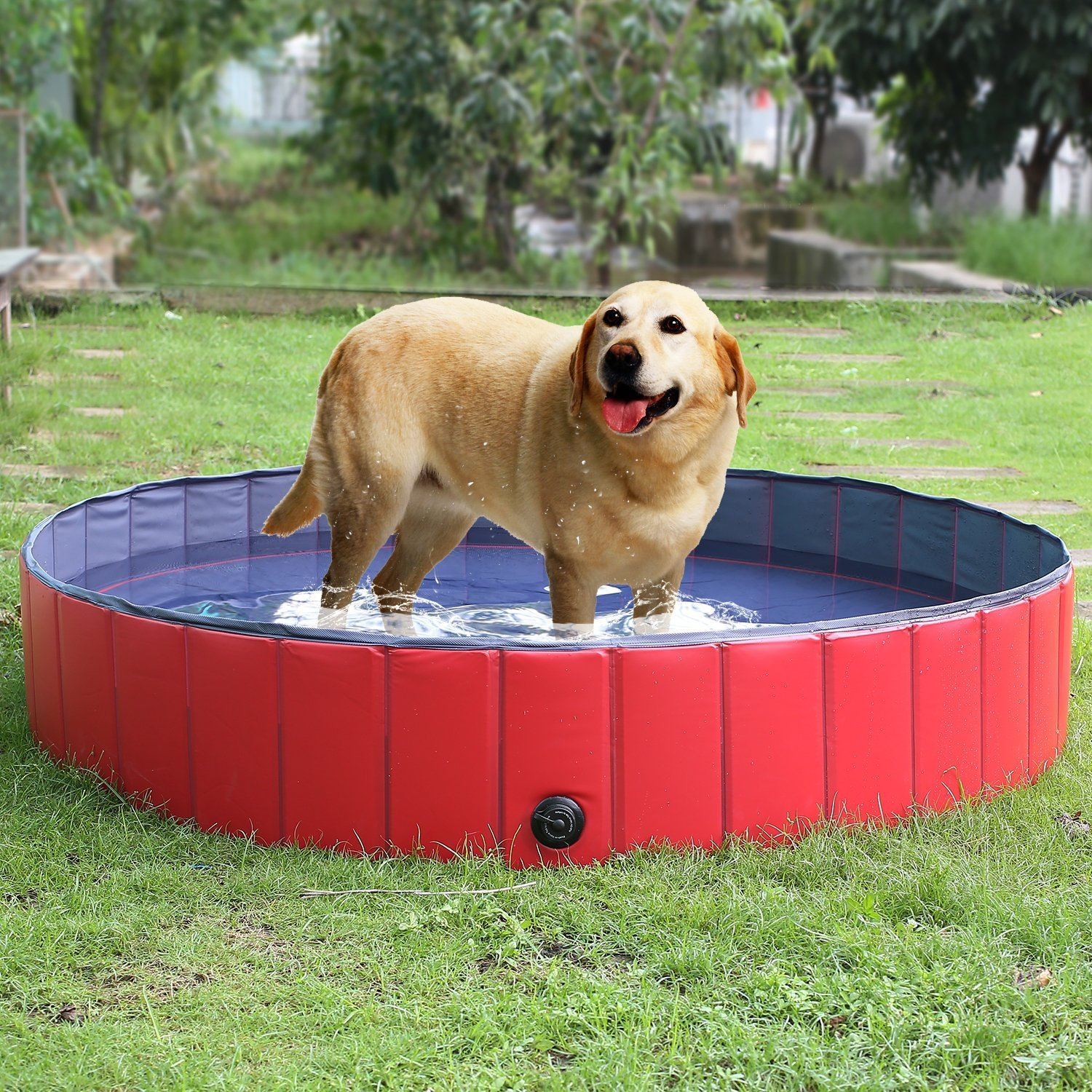 Foldable Pet Dogs Cats Paddling Pool Puppy Swimming Bathing Tub in Different Size for swimming playing bathing 160*30cm