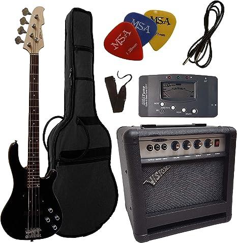 Bajo eléctrico – Set – Negro – Funda – Correa – Amplificador 45 ...