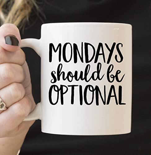 Amazon.com: Mondays Optional Mug - Funny Mug - Coworker Mug - Boss ...