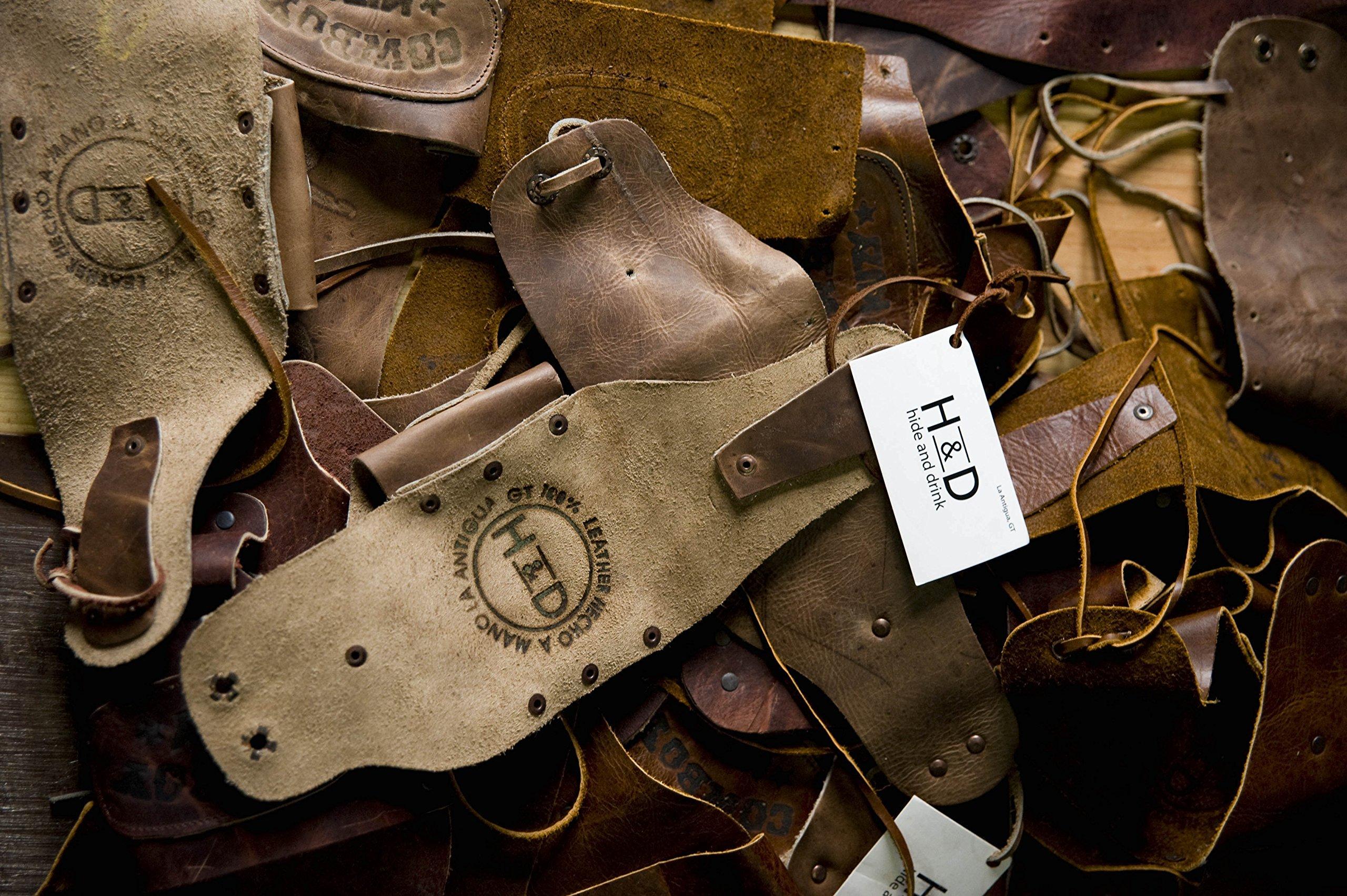 Leather Key Chain & Headphone Wrap Handmade by Hide & Drink :: Black