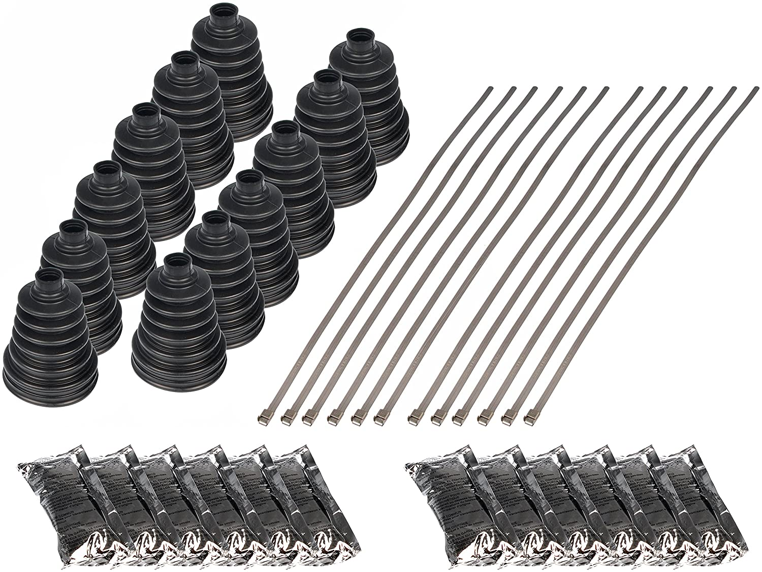 Pack of 12 Universal Fit CV Boot Kit Dorman 614-012 HELP
