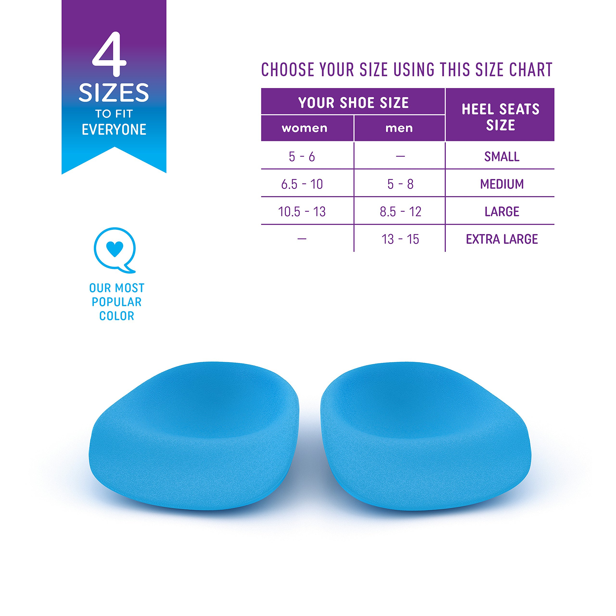 Heel That Pain Sensitive Feet Starter Kit - Gel and Original Heel Seats Foot Orthotic Inserts - Heel Cups Cushions Insoles for Plantar Fasciitis, Heel Spurs, Medium (Women's 7-10, Men's 5-8) by Heel That Pain