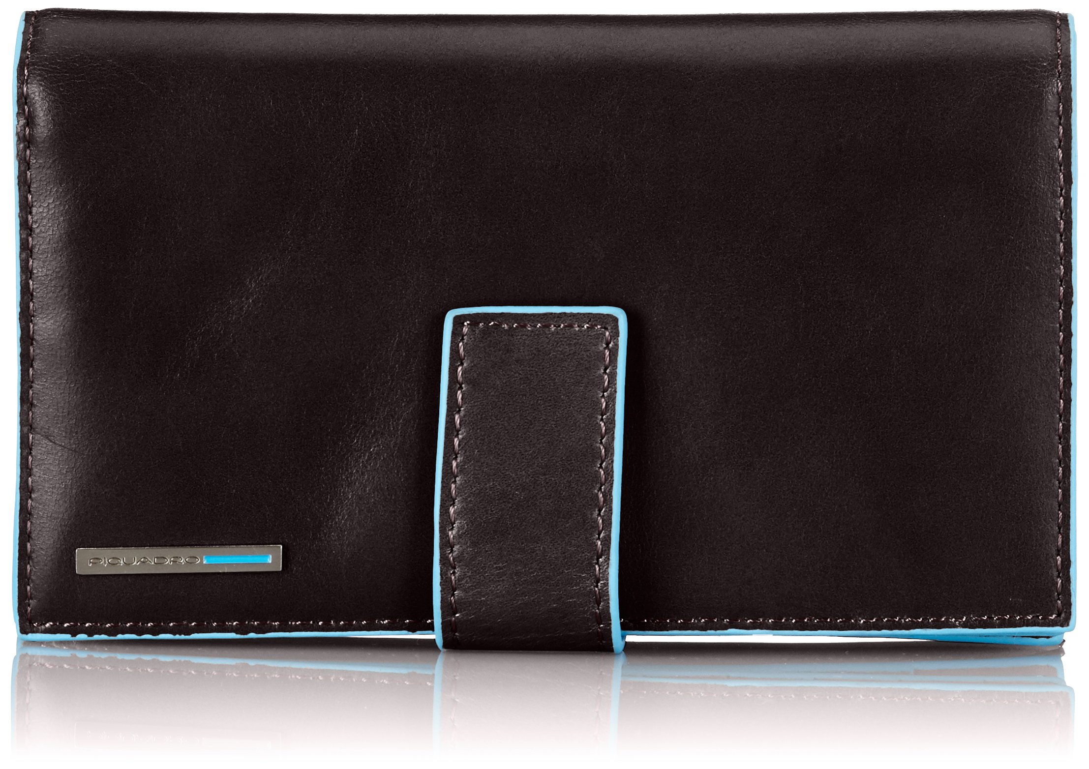Piquadro Lady's Wallet in Leather, Mahogany